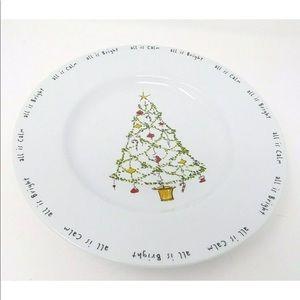 Pottery Barn Holiday Cheer Christmas Tree Plates